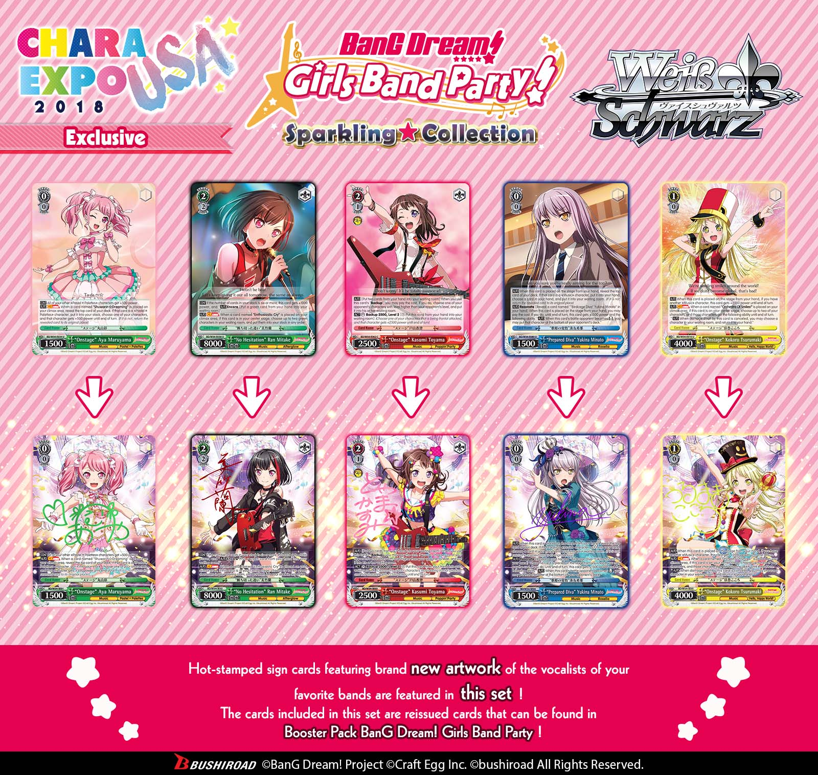 BanG Dream! Girls Band Party! Sparkling★Collection Card Showcase
