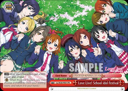 LL/W28-PE01 PR Love Live! School idol festival